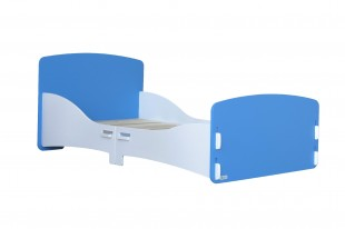Kidsaw Blue And White Junior Bed Frame