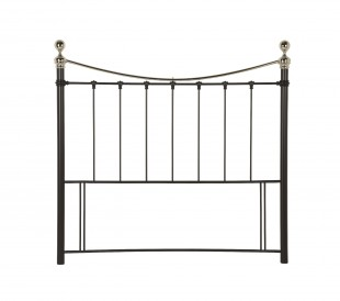Serene Ethan Black with Nickel 5ft King Size Metal Headboard