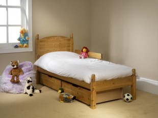 Friendship Mill Teddy Bed 2ft 6 By 5ft 9 SHORT Junior Single Pine Wooden Frame
