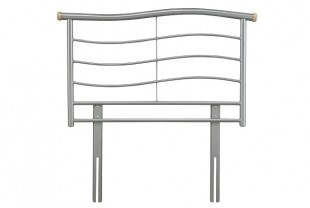 Serene Waverly 3ft Single Silver Metal Headboard