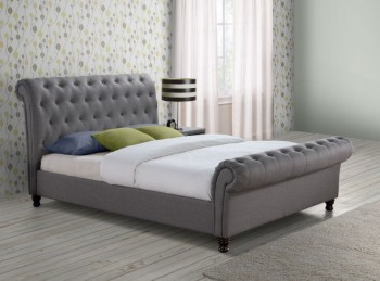 Birlea Castello 4ft6 Double Grey Fabric Bed Frame