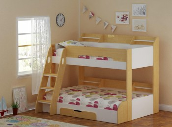 Flair Furnishings Flick Maple Triple Sleeper Bed