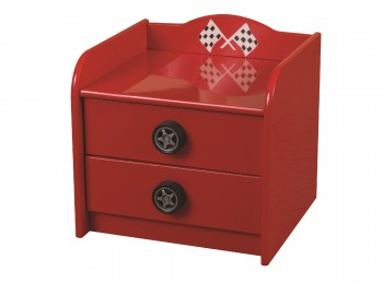 Sweet Dreams Formula Red 2 Drawer Bedside