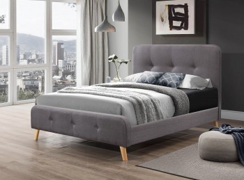 Flair Furnishings Nordic 4ft6 Double Grey Fabric Bed Frame