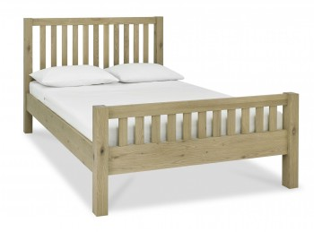 Bentley Designs Turin Aged Oak 4ft6 Double Wooden Slatted Bed Frame