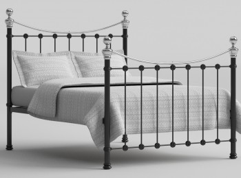 OBC Selkirk 6ft Super Kingsize Chromo Black Metal Bed Frame