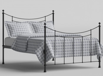 OBC Winchester 4ft 6 Double Satin Black Metal Bed Frame