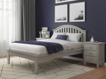 Flair Furnishings Justin 5ft Kingsize Grey Wooden Bed Frame