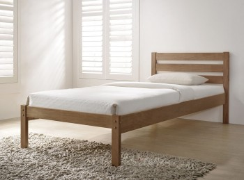 Flintshire Eco 4ft6 Double Oak Finish Wooden Bed In A Box