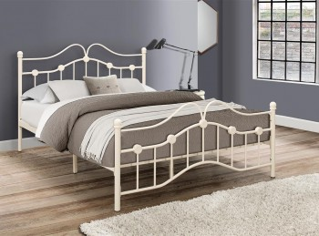 Birlea Canterbury 4ft Small Double Cream Metal Bed Frame