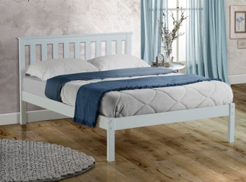 Birlea Denver 4ft6 Double White Wooden Bed Frame