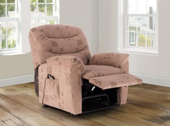 Birlea Regency Wheat Fabric Rise And Recline Chair