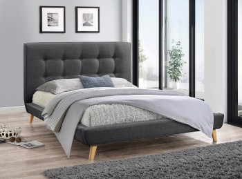 Flair Furnishings Jules 5ft Kingsize Grey Fabric Bed Frame