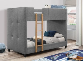 Flair Furnishings Frankie Bunk Bed In Light Grey
