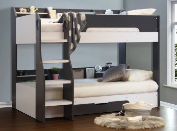Flair Furnishings Flick Grey Bunk Bed