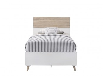 LPD Stockholm 3ft Single Wooden Bed Frame In White And Oak
