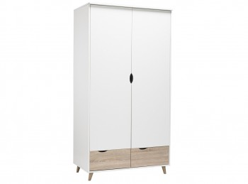 LPD Stockholm 2 Door Wardrobe In White And Oak