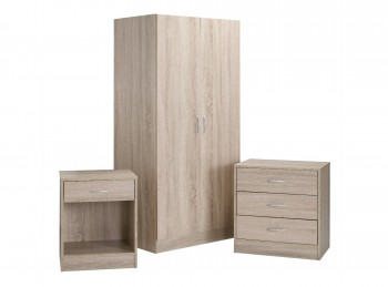 LPD Delta Bedroom Furniture Set In Oak Finish