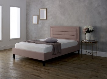 Limelight Picasso 4ft6 Double Pink Fabric Bed Frame