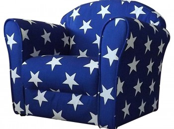 Kidsaw Blue With White Stars Childrens Mini Armchair
