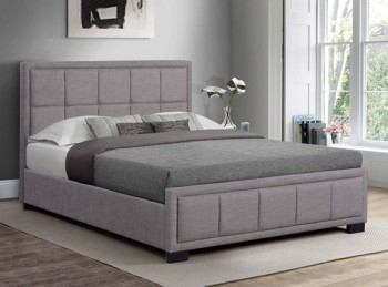 Birlea Hannover 4ft6 Double Grey Fabric Bed Frame