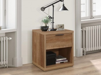 Birlea Stockwell Oak Finish 1 Drawer Bedside