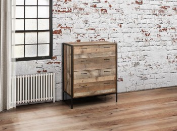 Birlea Urban Rustic Finish 4 Drawer Chest