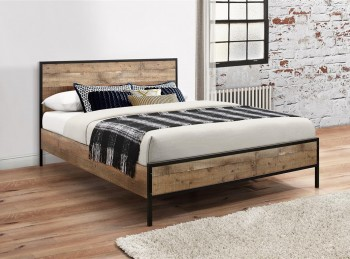Birlea Urban 4ft6 Double Wooden Rustic Finish Bed Frame
