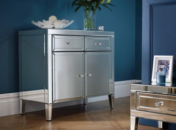 Birlea Valencia Mirrored 2 Door 2 Drawer Sideboard