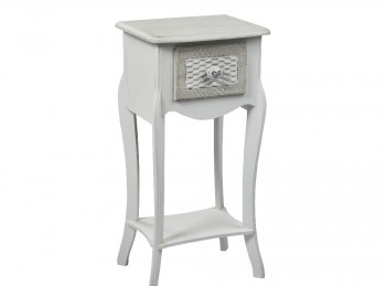 LPD Brittany 1 Drawer Side Table Or Bedside Table Shabby Chic Style