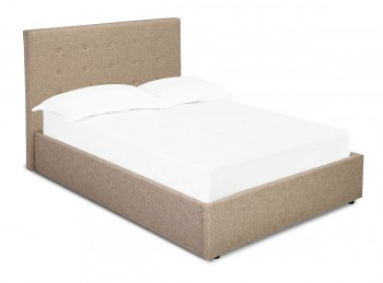 LPD Lucca 4ft6 Double Beige Fabric Bed Frame
