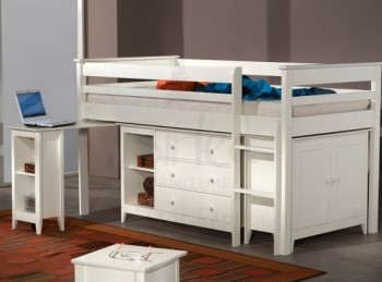 STORE CLEARANCE Birlea Cotswold Ivory Mid Sleeper