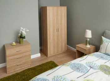 GFW Panama 3 Piece Bedroom Set In Oak