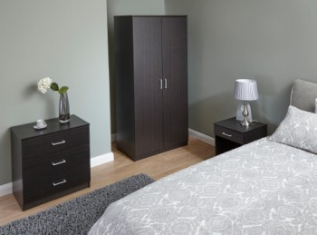 GFW Panama 3 Piece Bedroom Set In Espresso