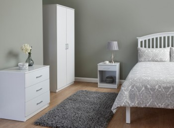 GFW Panama 3 Piece Bedroom Set In White