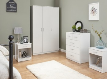 GFW Panama 4 Piece Bedroom Set In White