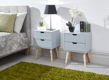 GFW Pair Of Nyborg Bedsides In Light Grey