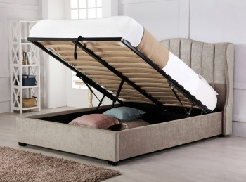 Emporia Sherwood 6ft Super Kingsize Stone Fabric Ottoman Bed