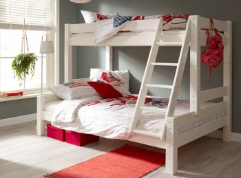 Flair Furnishings Harper White Triple Sleeper Bunk Bed