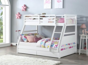Flair Furnishings Ollie White Triple Sleeper Bunk Bed