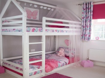 Flair Furnishings Play House Bunk Bed In White