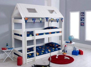 Flair Furnishings Scandinavia House White Bunk Bed
