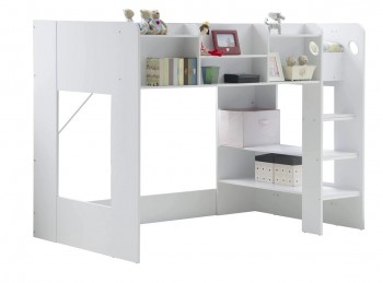 Flair Furnishings Wizard Junior White High Sleeper Bed