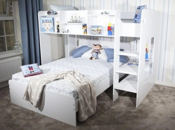 Flair Furnishings Wizard L Shape Triple Sleeper Bunk Bed