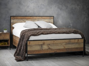 LPD Hoxton 4ft6 Double Rustic Wooden Bed Frame