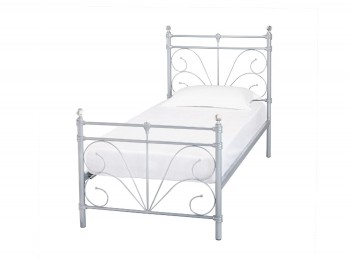 LPD Sienna 3ft Single Silver Metal Bed Frame