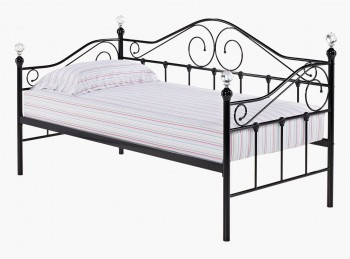 LPD Florence 3ft Single Black Metal Day Bed Frame