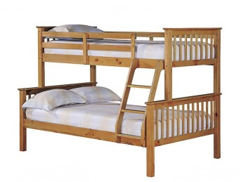 LPD Otto Pine Wooden Triple Sleeper Bunk Bed