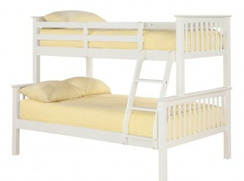 LPD Otto White Wooden Triple Sleeper Bunk Bed