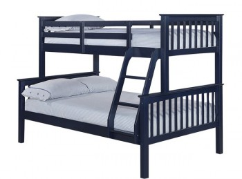 LPD Otto Navy Blue Wooden Triple Sleeper Bunk Bed